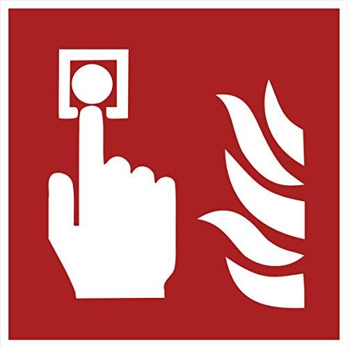 10 Brandmelder Aufkleber Brandmelder (10 Stück) vorgestanzt selbstklebend Brandmelder Sicherheitskennzeichen Brandmelder Zubehör Warnzeichen-Brandmelder Brandschutzzeichen Aufkleber F005