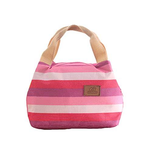 LAAT Bolsa de Almuerzo Aislamiento Bolsa de Picnic Multifuncional para Exterior o Trabajo o Playa Size 22cm*15 * 16.5cm (Rojo 1)