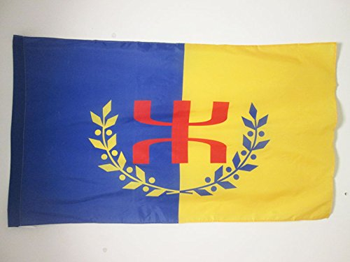 AZ FLAG Flagge KABYLEI GBP 150x90cm - Berber Fahne 90 x 150 cm Scheide für Mast - flaggen Top Qualität