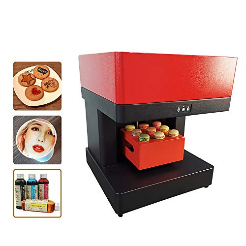 ZYT Coffee Printing Machine, Latte Art Printer Intelligent Coffee Latte Maker 4 Cups USB Win7 Support for Coffee Pastry Yogurt Biscuits