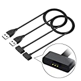 Compatible with Fitbit Ionic Charger,KingAcc Replacement USB Charging Cable Cord Charger Cradle Dock Adapter for Fitbit Ionic, Fitness Tracker Wristband Smart Watch (2 Pack)
