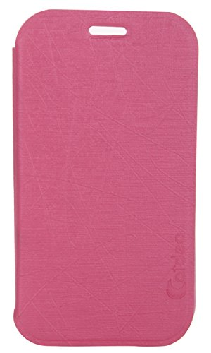 iCandy™ Soft TPU Non Slip Back Shell PU Leather Hybrid Flip Cover for Samsung Galaxy Star Pro S7262 - Pink