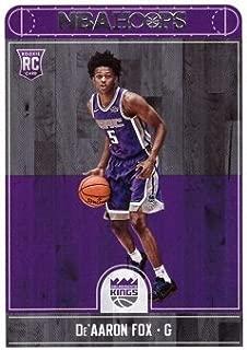 2017-18 Panini NBA Hoops Basketball #255 De'Aaron Fox Rookie Card - Sacramento Kings