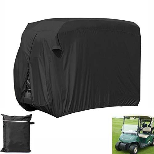 LJIANW Cubierta del Carro De Golf, Impermeable Prevención De Polvo Tela Oxford 2 Carros De Golf For Pasajeros Patio Al Aire Libre Jardín Protección contra La Nieve A Prueba De Viento, 3 Tamaños