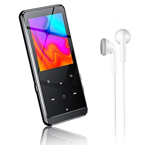 MP3プレーヤー Bluetooth5.0 Tuayoo MP3プレーヤー 音楽プレーヤー HIFI超高音質 2.4インチHD大画面 16GB内蔵 64GBまで拡張可能 SDカード対応 超軽量 FMラジオ多機能 ポータブルオーディオプレーヤー 日本語対応 日本語説明書付き