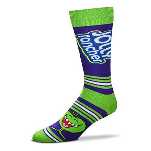 For Bare Feet Unisex Fbf Originals Jolly Rancher Sock, Jolly Rancher - Apple - Stripealicious, One Size