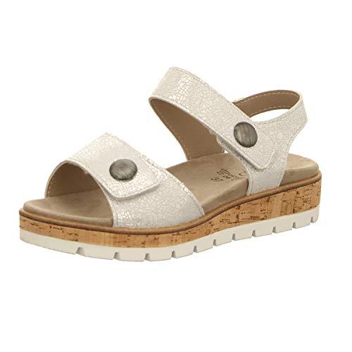 LONGO Damen Sandaletten 1021249 Silber 512994