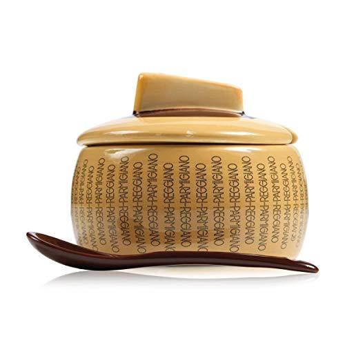 BOSKA Holder parmigiano Reggiano con Cucchiaio, Taglia L, Terracotta, Beige/Marrone, 12x 11.7x 10.8cm