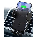 「令和改善版」NANAMI 車載 ワイヤレス充電器 自動車用 スマホホルダー Qi急速 7.5W/10W高速充電 自動開閉 360度回転 エアコン吹き出し口取付け クリップ式 iPhone 12/12 Pro/12 Mini/SE (第2世代) /11/11 Pro /11 Pro Max X XR XS/XS Max 8/8 Plus、Galaxy S20/S10/S10+ S9/S9 Plus Note9 Note8 S8、Xperia XZ3 など Qi規格機種ほとんど対応 ブラック