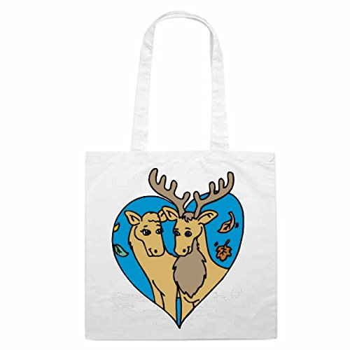 Schoudertas Moose in Love Cartoon Fun Fun cult film serie Winkeltas schooltas sporttas 38x