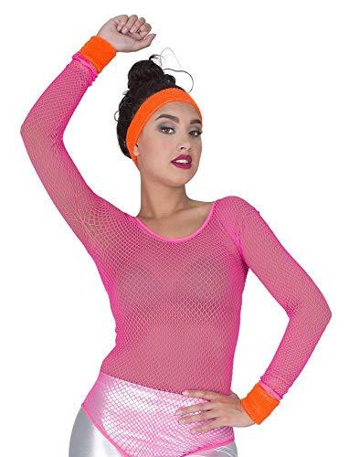 Neon zweetband polswarmers set - 3-delig - verschillende kleuren - Fluo Rave kostuum 80er 90er Aerobic carnaval themafeest vrijgezellenfeest