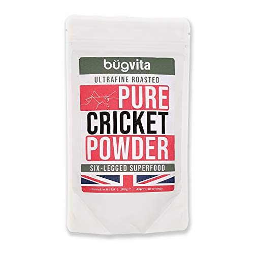 Bugvita Pure Cricket Powder / Flour 100g | Farmed in The UK | Six-Legged Superfood
