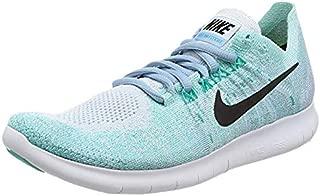 Nike Womens Free RN Flyknit 2017 Running Shoe BLUE TINT/BLACK-CIRRUS BLUE-AURORA GREEN 11.0