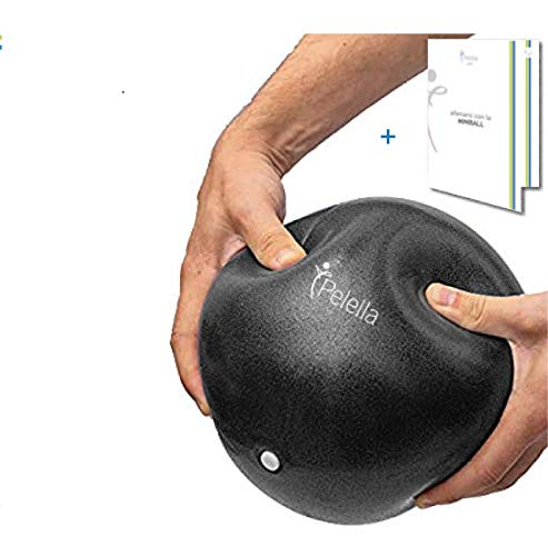 Pelella 25 cm Mini Fitness Ball Pilates Yoga Fisioterapia Video Corso e-Book Core Cross Training Gimnasio y Ejercicio Fimnasio Embarazo Soft Over