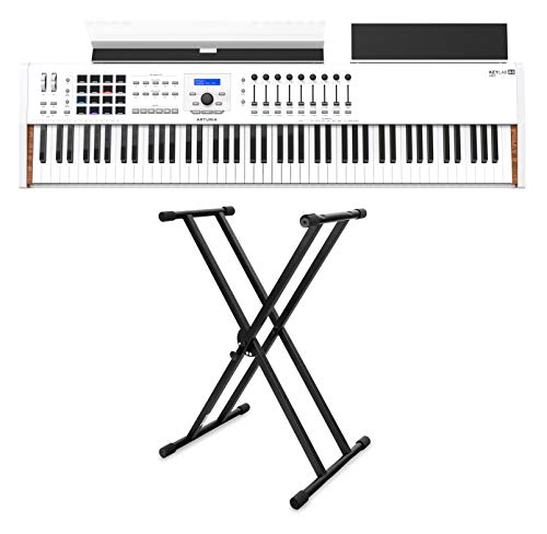 Arturia KeyLab 88 MKII Stage Set (USB/MIDI-Controller mit 88 Tasten & Software inkl. X-Keyboardständer)