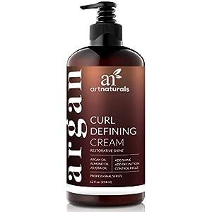artnaturals Curl Defining Cream - Curls Moisturizer & Enhancer w/Almond, Jojoba & Argan Oil & Natural Frizz Control… 5