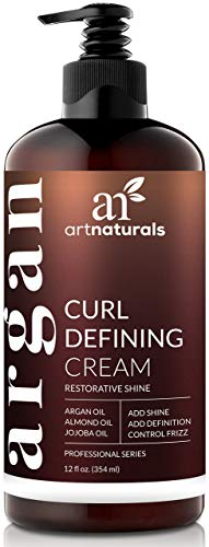 ArtNaturals Curl Defining Cream - Curls Moisturizer & Enhancer w/Almond, Jojoba & Argan Oil & Natural Frizz Control - for Wavy & Curly Hair Products - Sulfate Free - 12 Oz for Women and Men