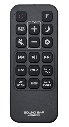 AKB74935611 Replaced Remote fit for LG Sound Bar SJ9 SJC8 SJ6B SJ8