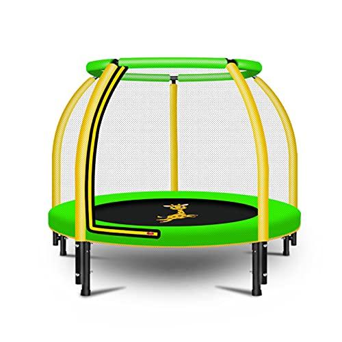 JJ JUJIN Trampolin für Kinder, Trampolin mit Sicherheitsgehäuse und Handlauf-1.2M