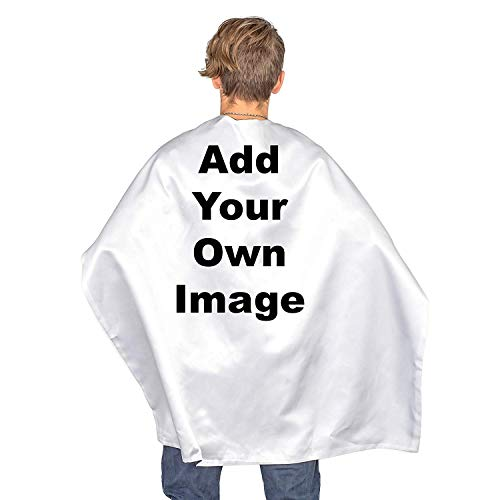Personalized Add Your Own Image Custom Adult Sublimation Capes White
