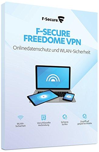 F-Secure FREEDOME VPN 2019 - 1 Jahr / 5 Geräte für Multi Plattform (PC, Mac, Android und iOS)