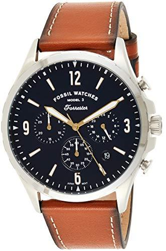 FOSSIL Reloj Analógico para Hombre de Cuarzo con Correa en Piel Genuina FS5607