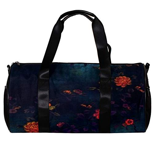 LEVEIS Flower Traction Sports Duffel Bag Travel Tote Carry on Weekender Gym Overnight Bag for Men & Women