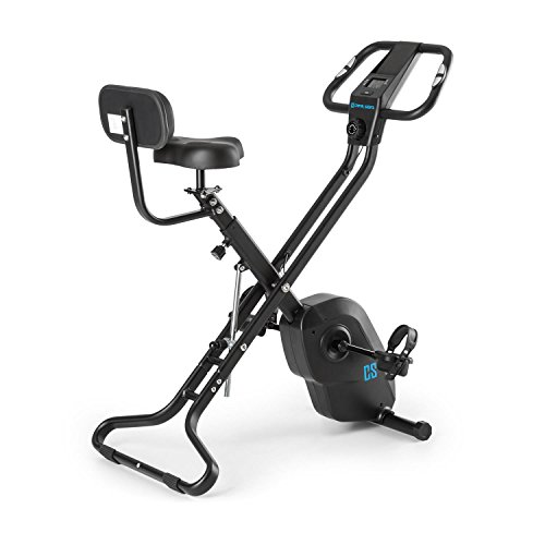 CAPITAL SPORTS Azura X2 - Ergometro, Hometrainer, Fitness-Bike, X-Bike, Training Computer, Resistenza Regolabile 8 Livelli, Salva Spazio, Supporto Schienale, Max. 120 kg, Nero