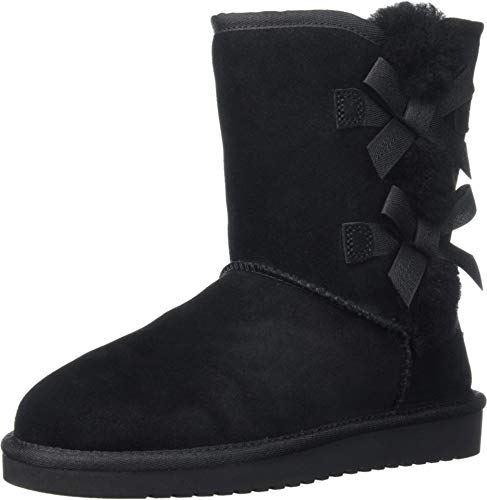 Koolaburra by UGG Women's Victoria Short Fashion Boot, Black, 08 M US