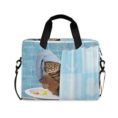 JNlover Laptoptasche mit lustigem Tiermotiv, 40,6 cm (16 Zoll), tragbare Hülle, Aktentasche, Laptoptasche, Notebook, Computer, Tragetasche für Damen und Herren