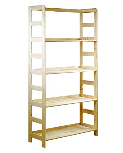 HOLZREGAL Kiefer Massiv Regal Bücherregal Büroregal Modulregal R-* 8 Varianten (R-10 HxBxT 166x83x33 cm)