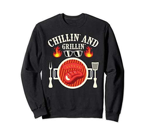 BBQ Chillin' und Grillen Fleisch Smoker Pitmaster Grill Sweatshirt