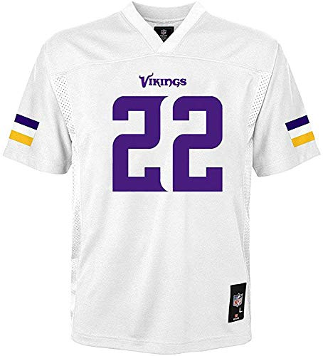 OuterStuff Harrison Smith Minnesota Vikings #22 White Youth 8-20 Mid Tier Away Jersey (Large 14/16)