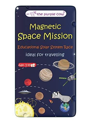 The Purple Cow- Space Mission Magnetic Travel Game. Great for Travel and On-The-Go. A Unique Solar System Game. Educational and Learning Activity for Boys and Girls. Ages 5+