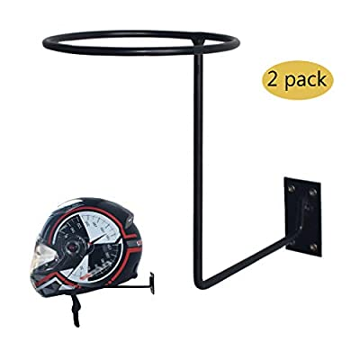 CHCYCLE Motorcycle Accessories Helmet Holder Jacket Hanger Wall Mounted Multifunctional Rack (2 Pack) from lening