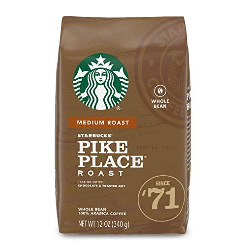 Starbucks Medium Roast Whole Bean Coffee — Pike Place Roast — 1 bag (12 oz.)