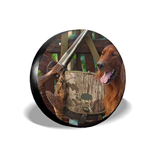 WCHAO La Mejor Cubierta Protectora para Llantas de Coche para Perros de Caza, Cubierta Protectora a Prueba de Agua para Llantas de Repuesto, Accesorios Cmaper de 16 '