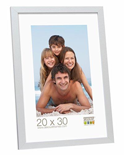 Deknudt Frames S44CD1-20.0X30.0 - Portafoto Basic in Legno e MDF, Dimensioni 20 x 30 cm, Colore: Argentato