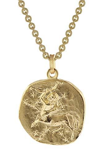 trendor Schütze Sternzeichen Anhänger Herrenkette Gold auf Silber zeitloser Halsschmuck für Herren, Anhänger mit Kette, perfekte Geschenkidee, 39070-12-50 50 cm