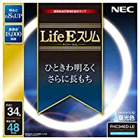 (まとめ)NEC 高周波点灯専用蛍光ランプLifeEスリム 34形 昼光色 FHC34ED-LE 1個【×3セット】