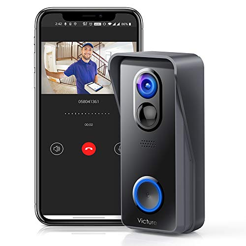 Victure Video Doorbell Camera, Wireless Smart...