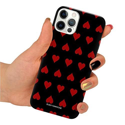 Funnycase Clear Funda con Estampa Tarjetas (Cards) Compatible con iPhone 7 Plus / 8 Plus Funda de Silicono Flexible Transparente para Proteger tu Telefono CDS114
