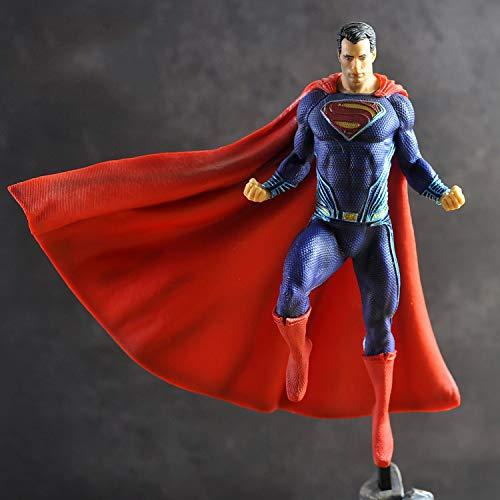 JXMODEL Liga de La Justicia Estatua Superman Película Anime Superhéroes Figuras Acción Modelo,Juegos de Niños Estáticos Figuras Personas 10 Pulgadas A