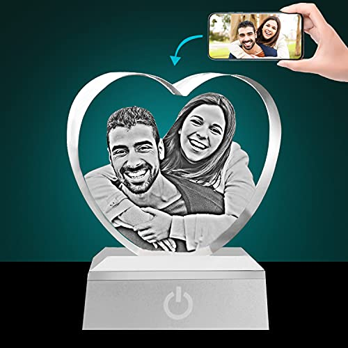 Personalized 3D Photo Crystal Heart