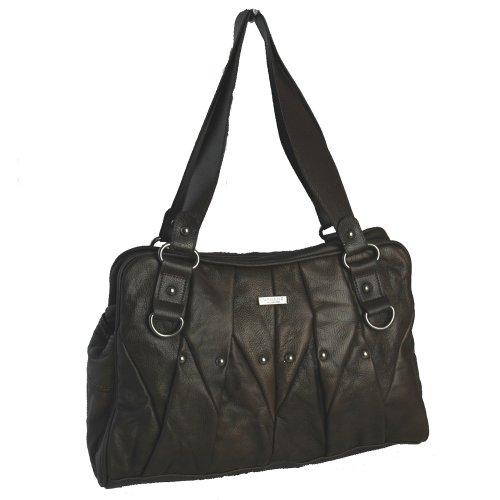 Lorenz - Bolso de tela de cuero para mujer Medium, color marrón, talla 35x12.5x23 (Zapatos)