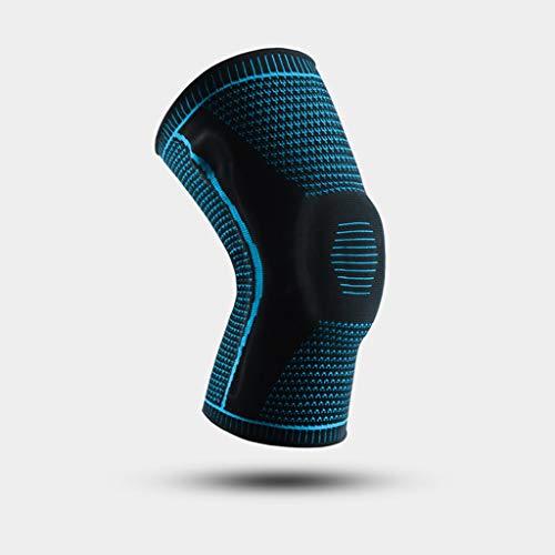 TTKD 1 par de rodilleras completas de silicona para rótula, soporte medial, protección de compresión para meniscos (tamaño: mediano)