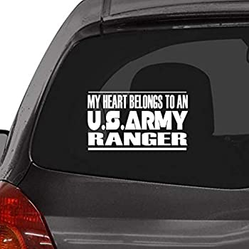 Custom Brother - My Heart Belongs to an US Army Ranger Car Laptop Wall Sticker l65