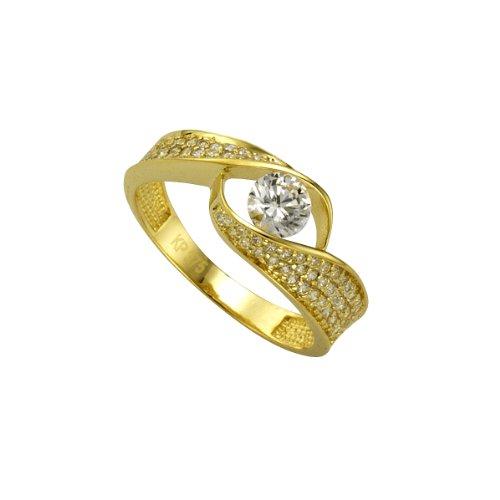 Celesta Damen-Ring 9 Karat (375) Bicolor Zirkonia weiß Gr.56 (17.8) 326370066-2-056