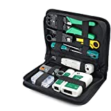 Deniseonuk Home Multi-Function Network Crystal Head Wiring Tool Set Three-Purpose Cable Clamp Tester Tool Kit Set