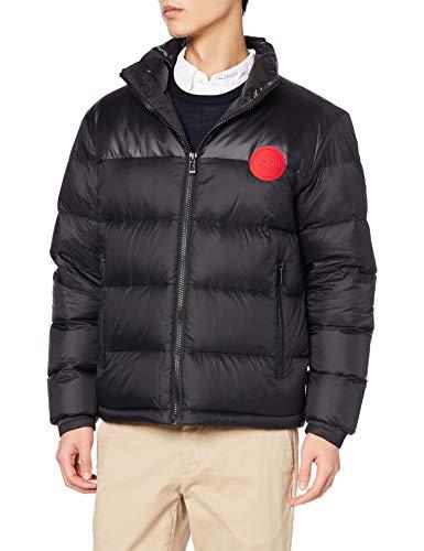 HUGO Mens Biron2041 Down Coat, Black (1), XL